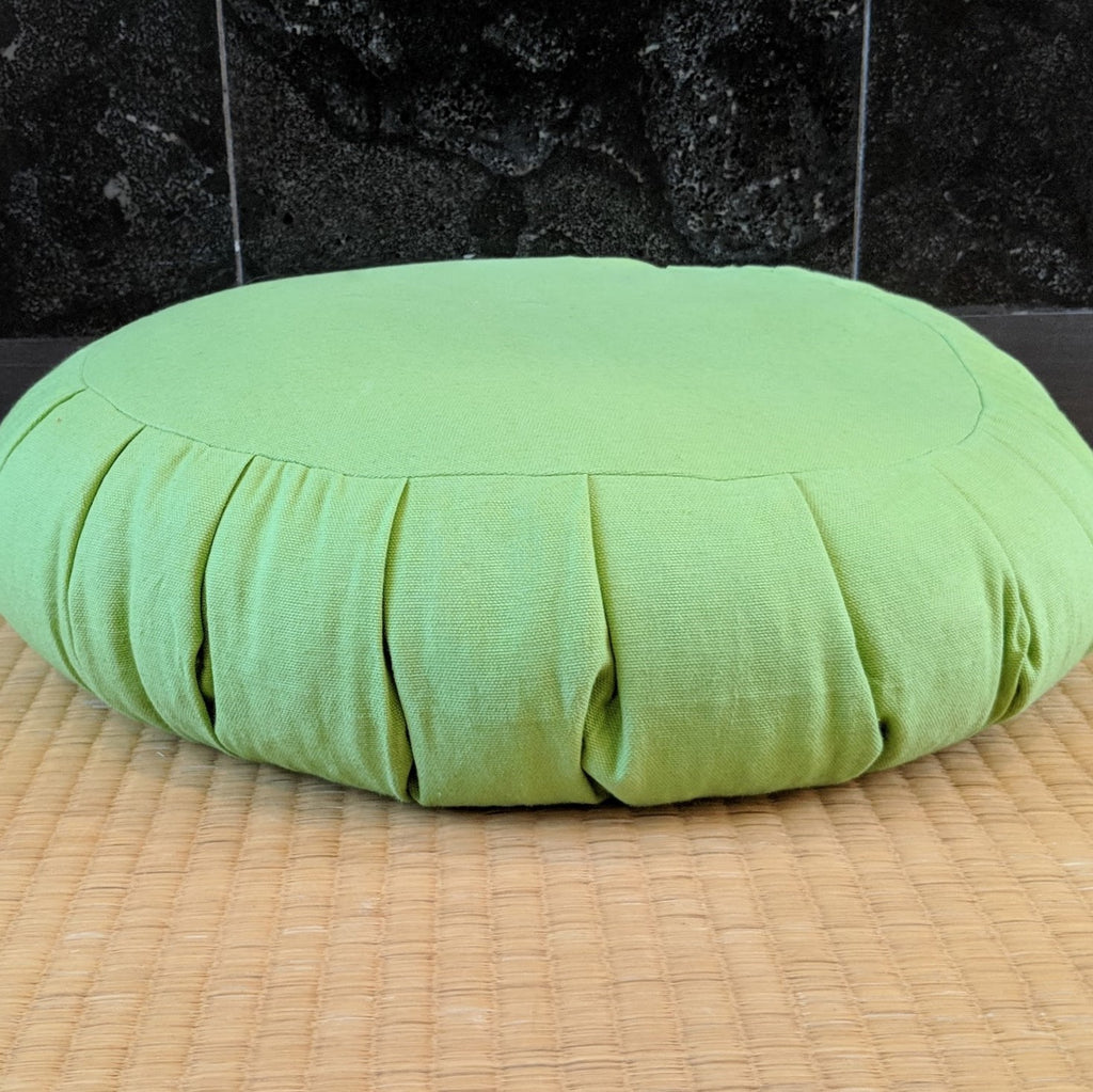 Round Wasabi Green Cushion