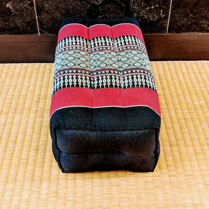 Black & Red Rectangle Cushion- Standard