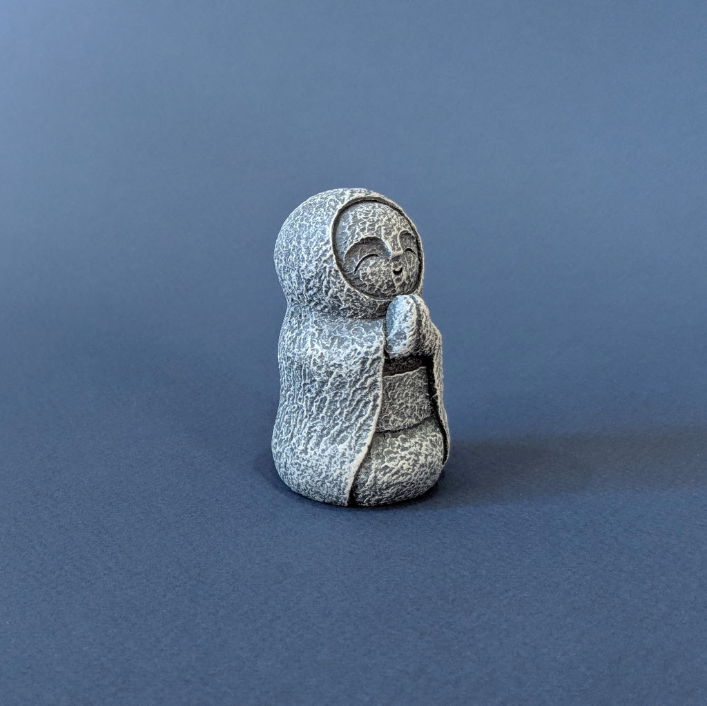 Jizo Monk with Cloak Statue