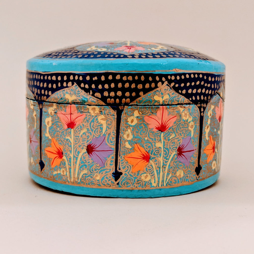 Hand-Painted Circular Iris Box