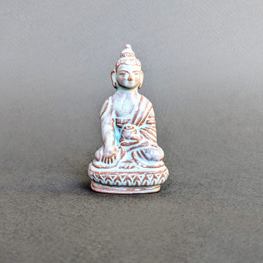 Miniature Ceramic Earth Touching Buddha