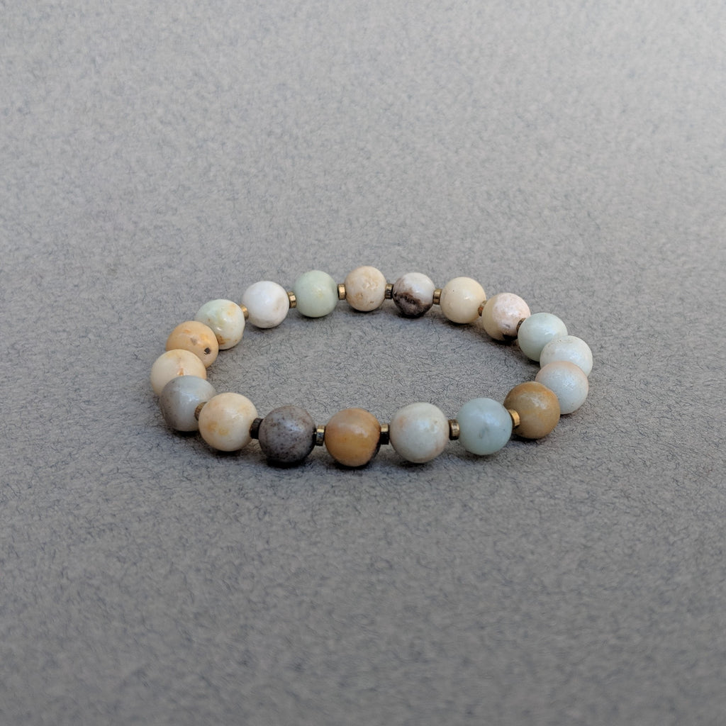 Amazonite Gemstone Bracelet with Spacers