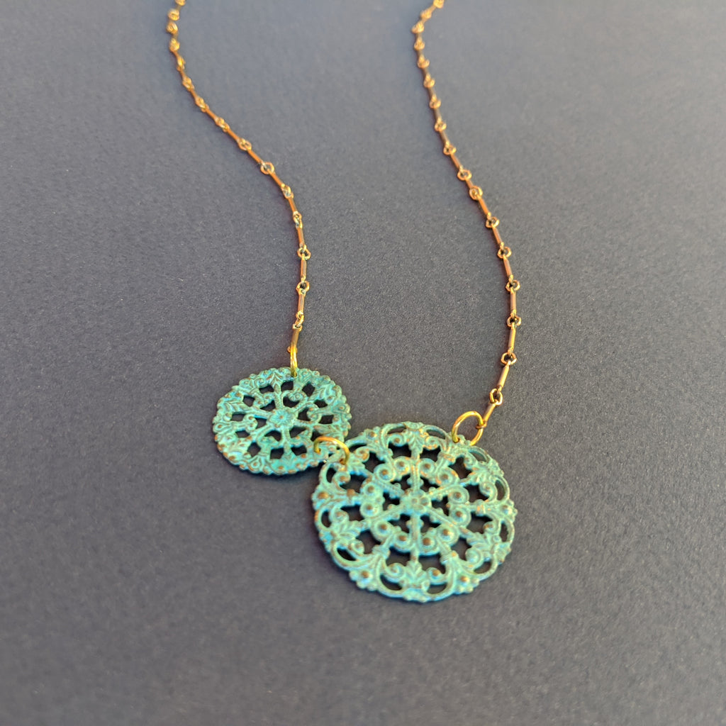Medallion Lace Necklace