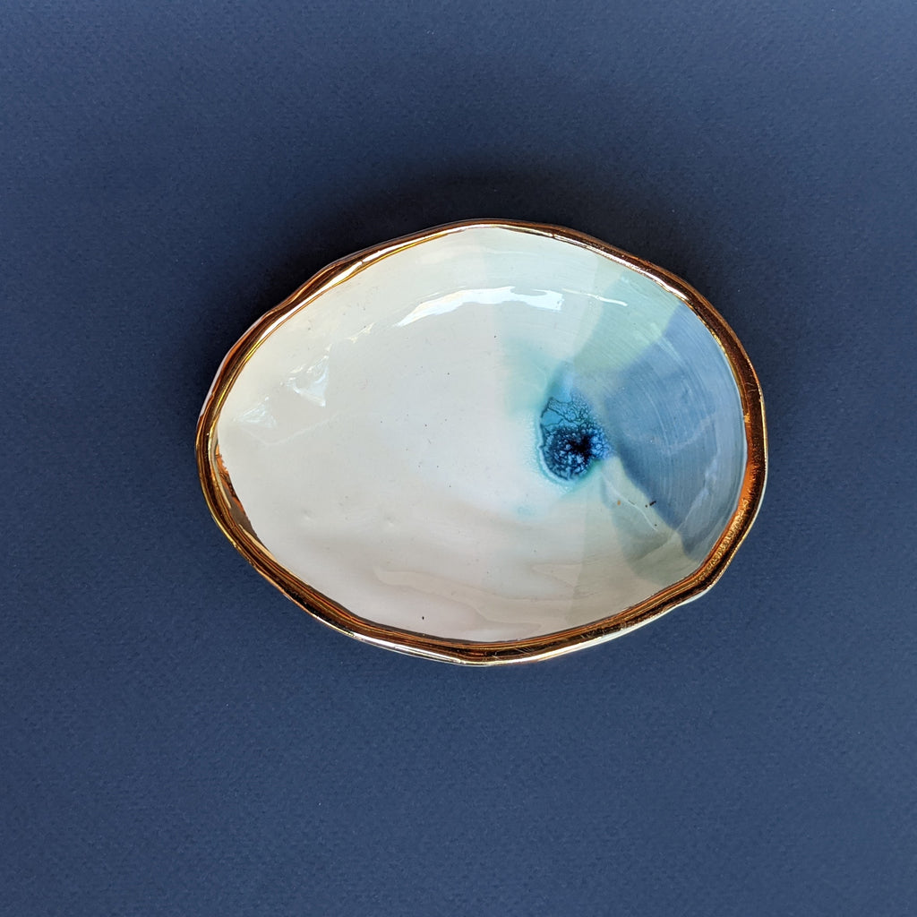 Ceramic Abalone Shell- Blue