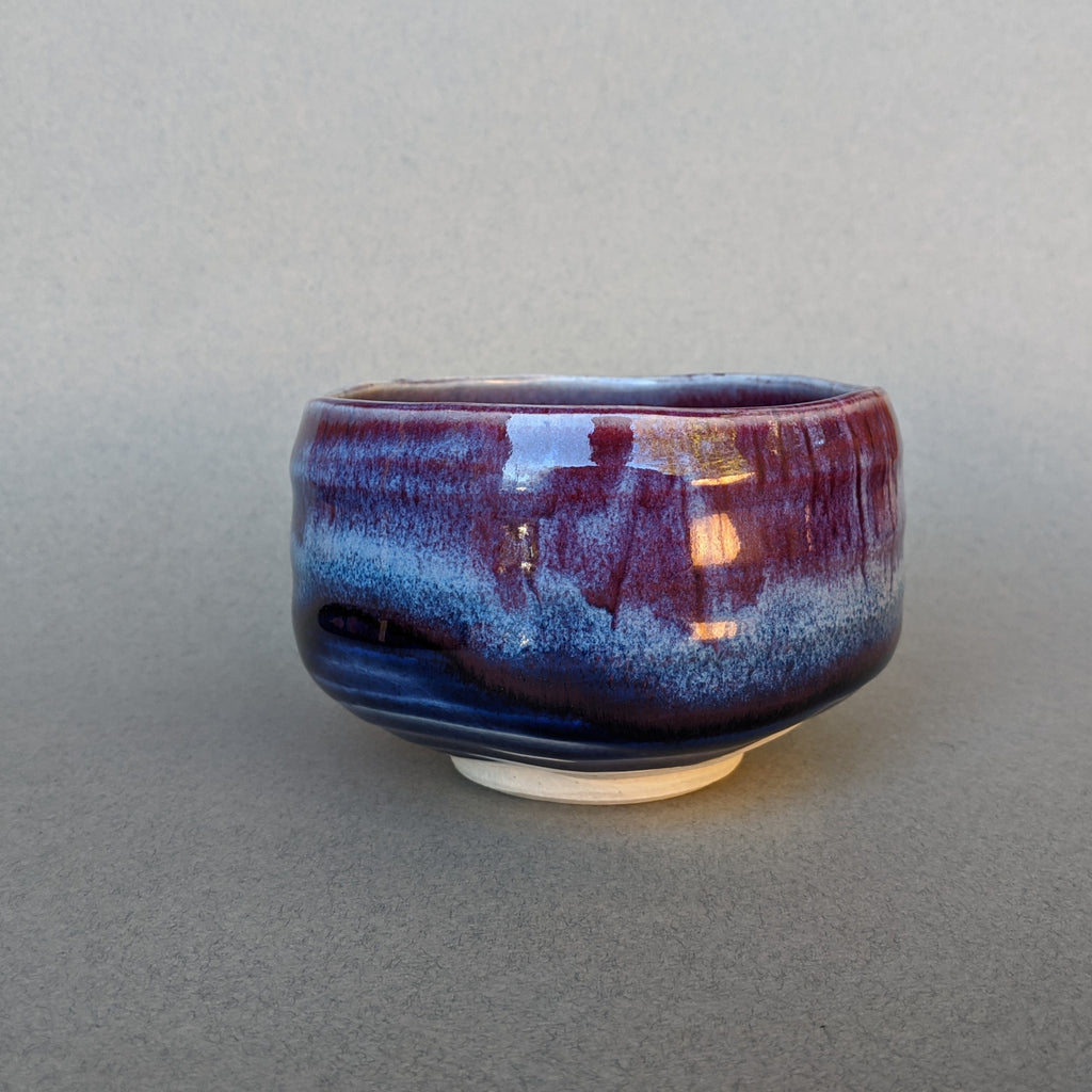 Twilight Blue Ceramic Incense Bowl