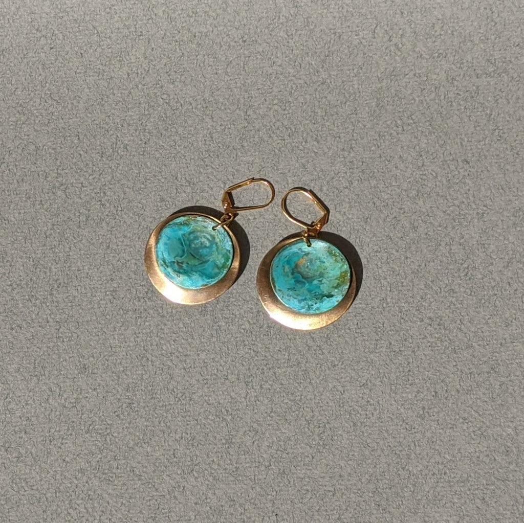 Turquoise Patina Earrings