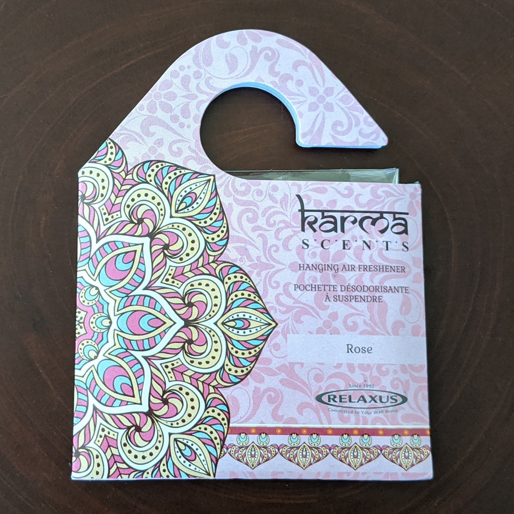 Karma Scents Rose Hanging Air Freshener