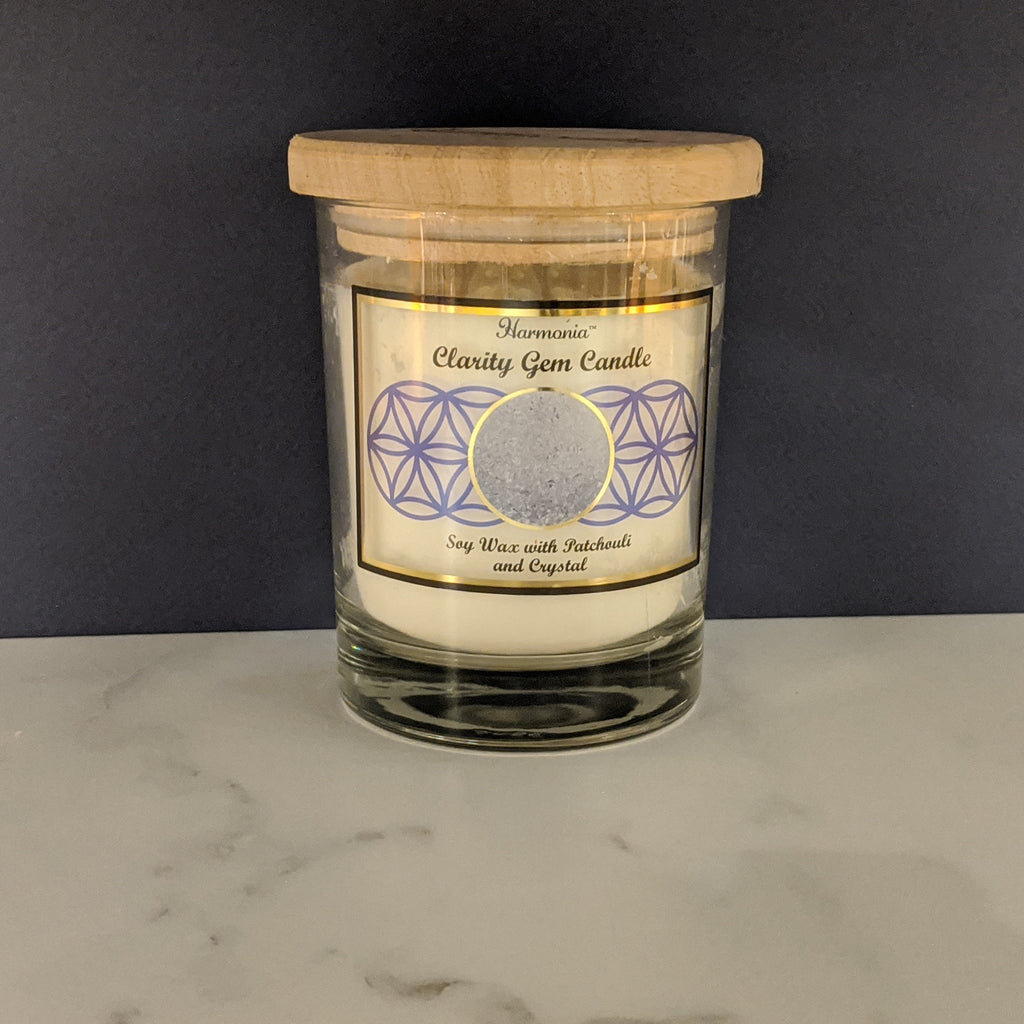 Quartz Crystal Gem Candle - Clarity