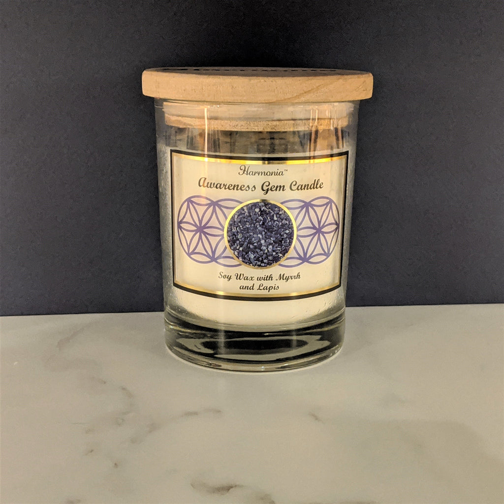 Lapis Gem Candle -  Awareness