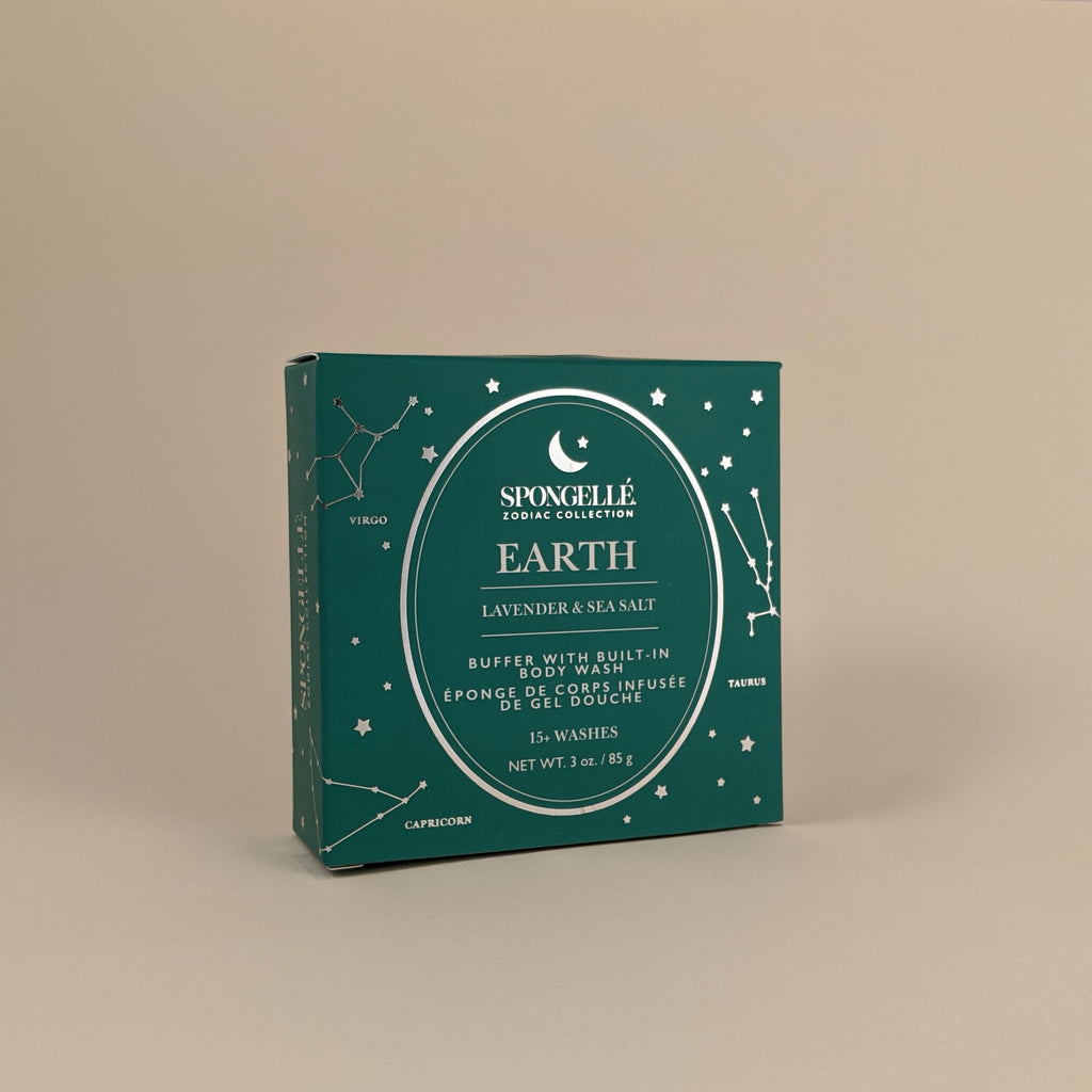 "Zodiac Collection-  ""Earth"" Buffer with Built-In Body Wash"