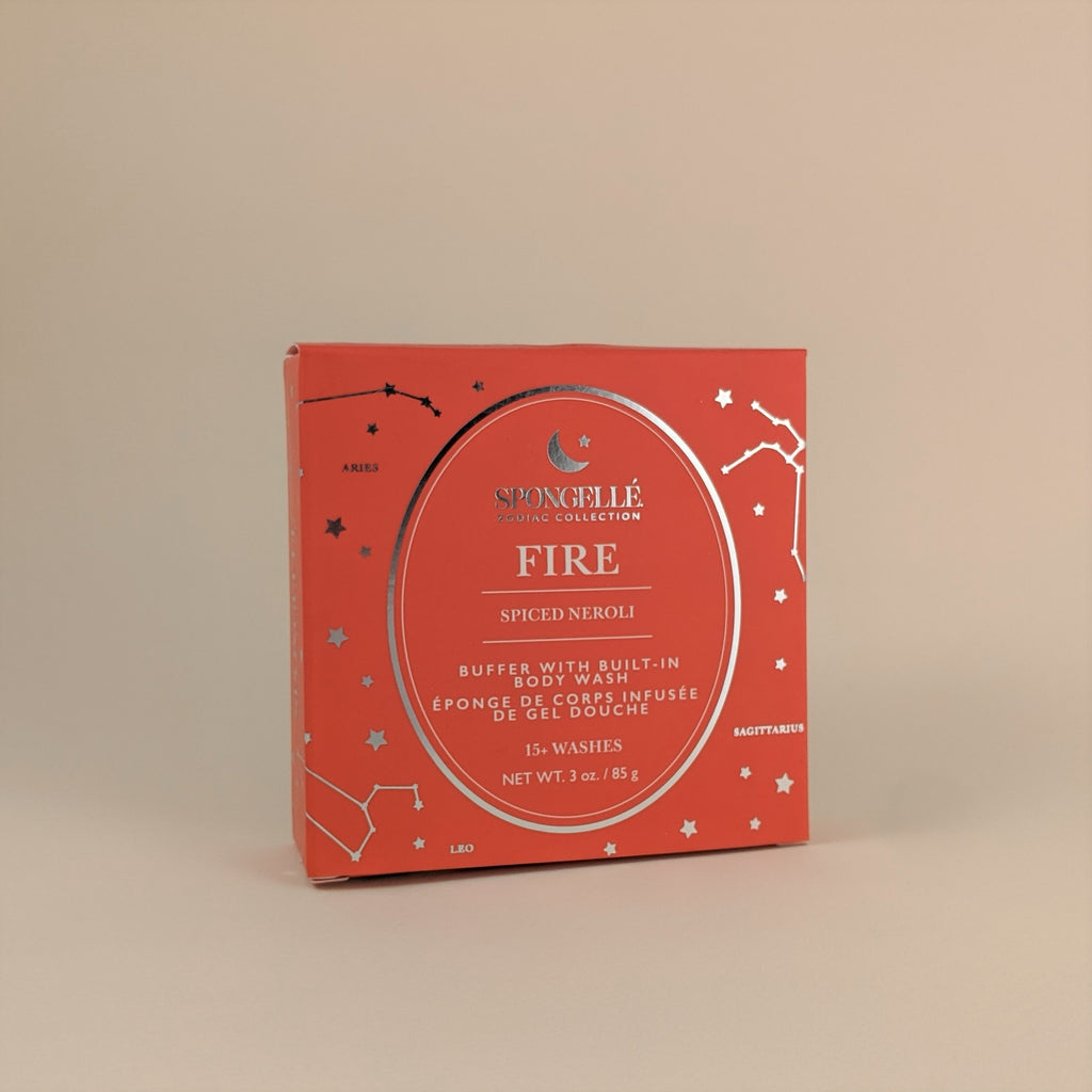 "Zodiac Collection-  ""Fire"" Buffer with Built-In Body Wash"