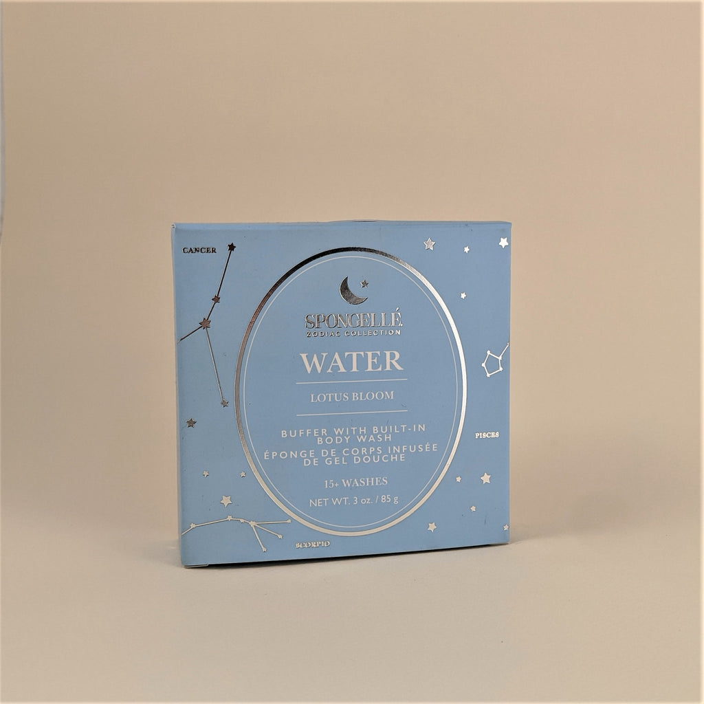 "Zodiac Collection-  ""Water"" Buffer with Built-In Body Wash"