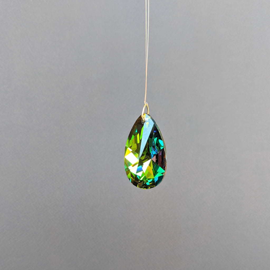Black Rainbow Almond Crystal Prism