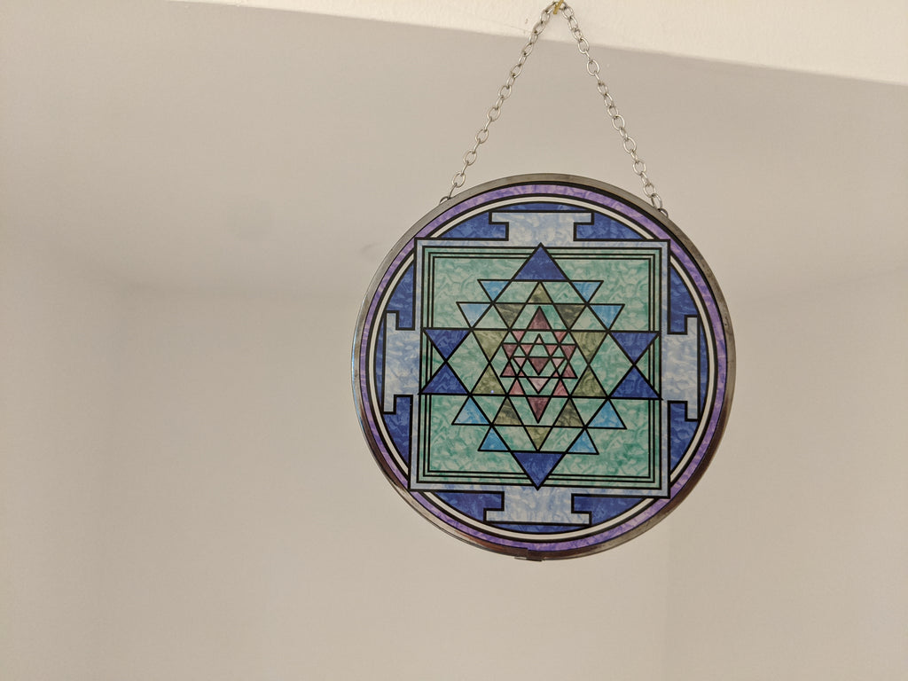 Sri Yantra Glass Suncatcher