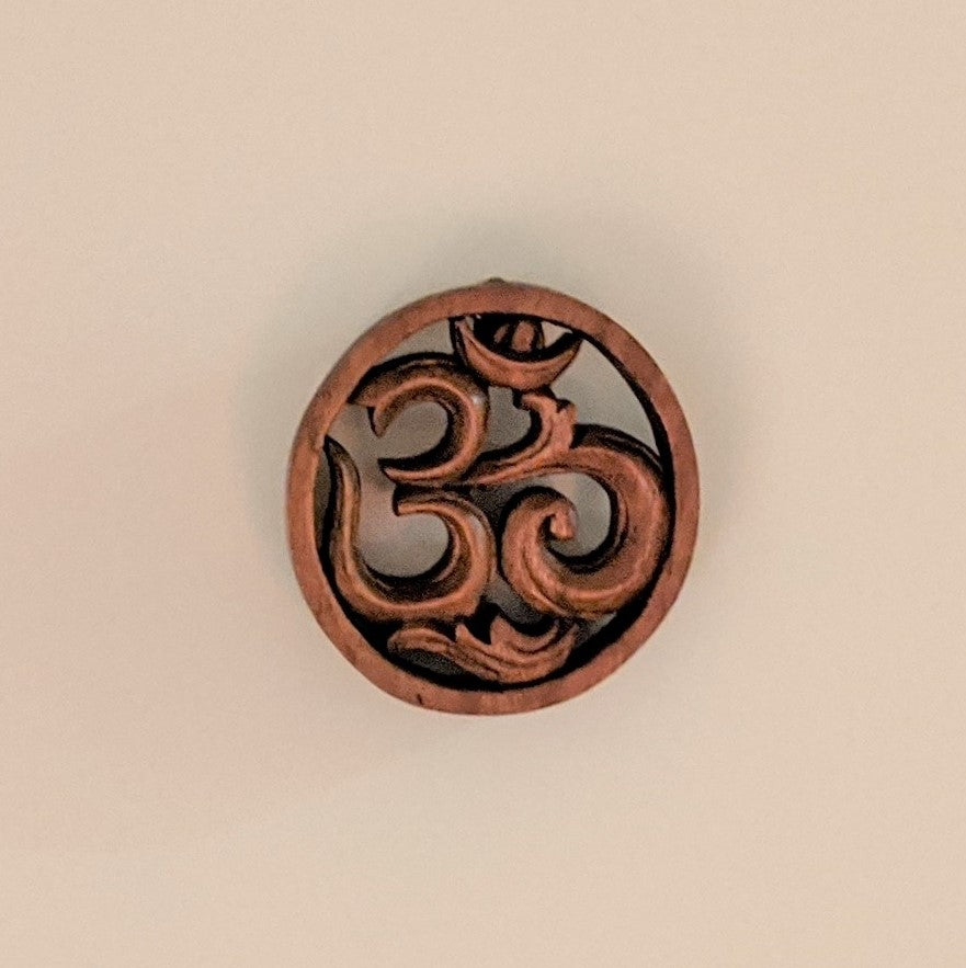 "Wood Carved ""Om"" Wall Hanging"