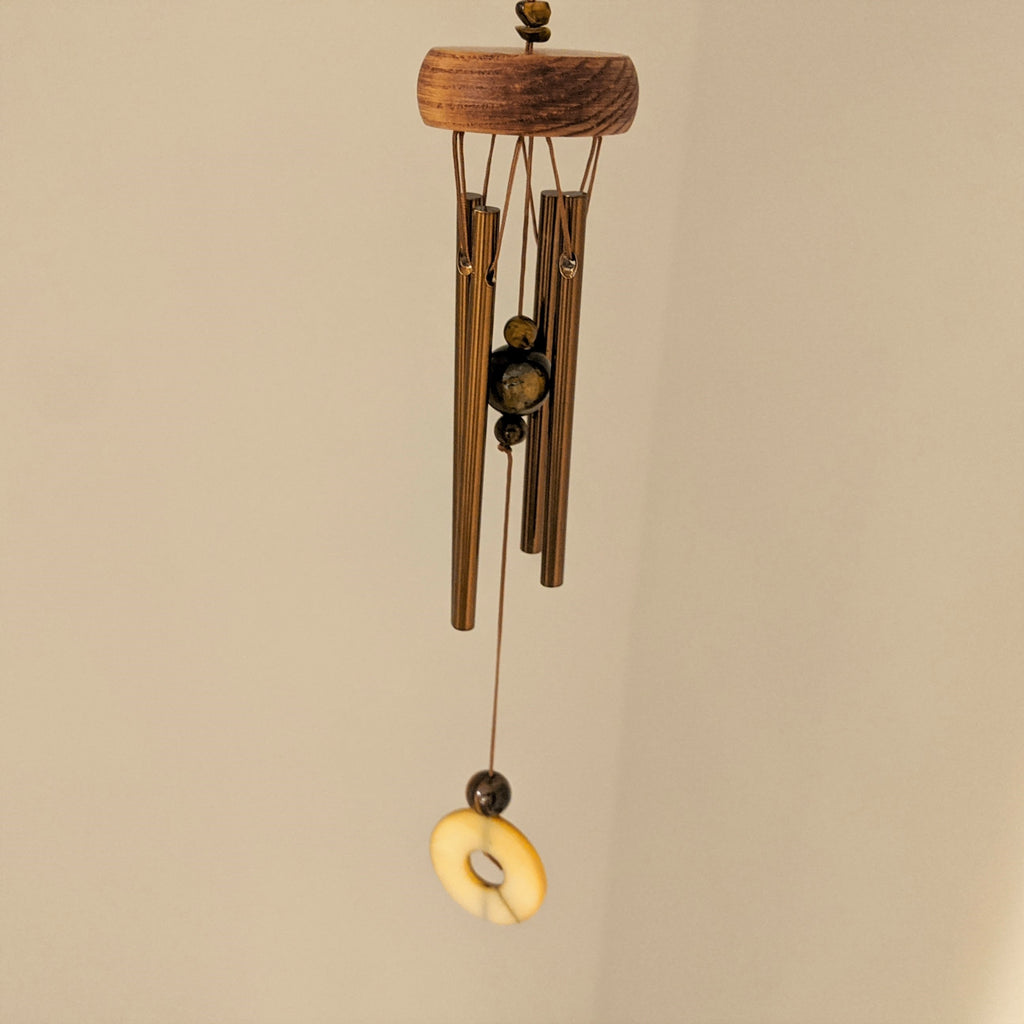 Bronze Chime with Tiger's Eye Stone