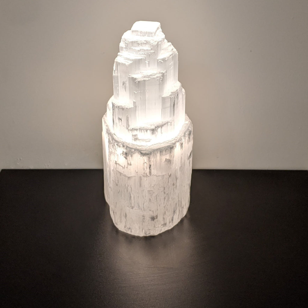 "8""  Selenite lamp"