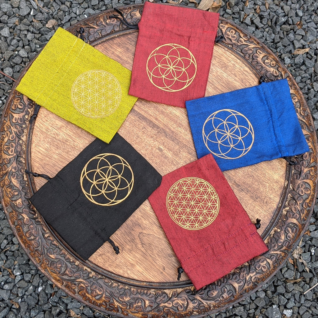Flower of Life Drawstring Pouch