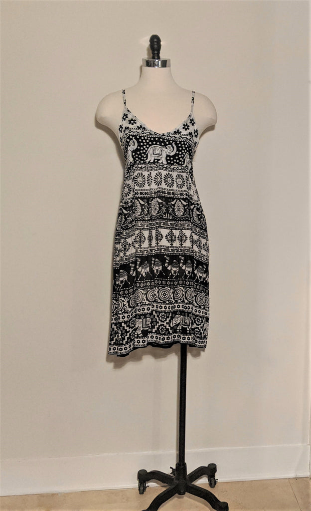 Elephant Spaghetti Strap Dress
