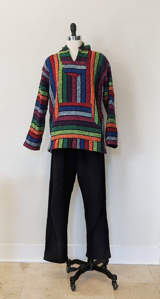 Baja Rainbow Striped Pullover- Size M