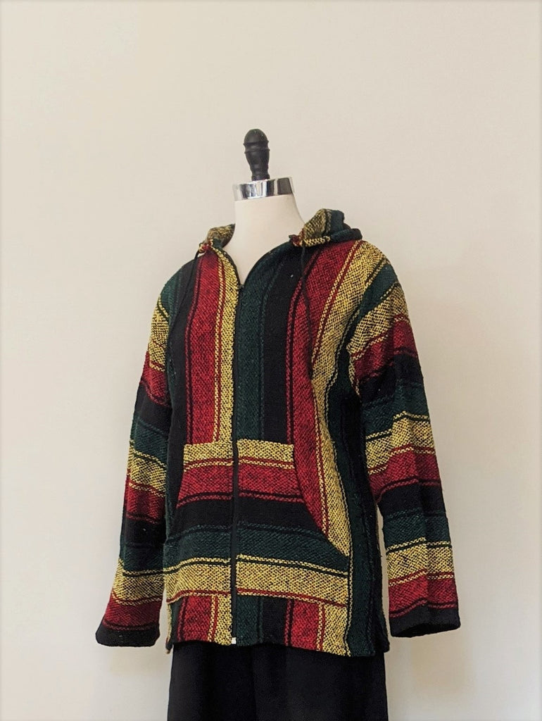 Baja  Jamaican Color Zip Up Jacket- Size M