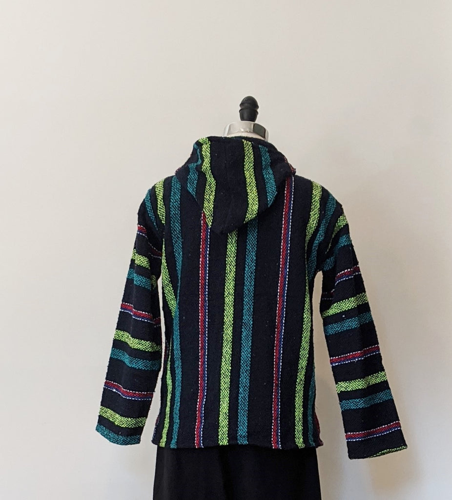 Baja Multi-Colored Zip Up Jacket- Size Small