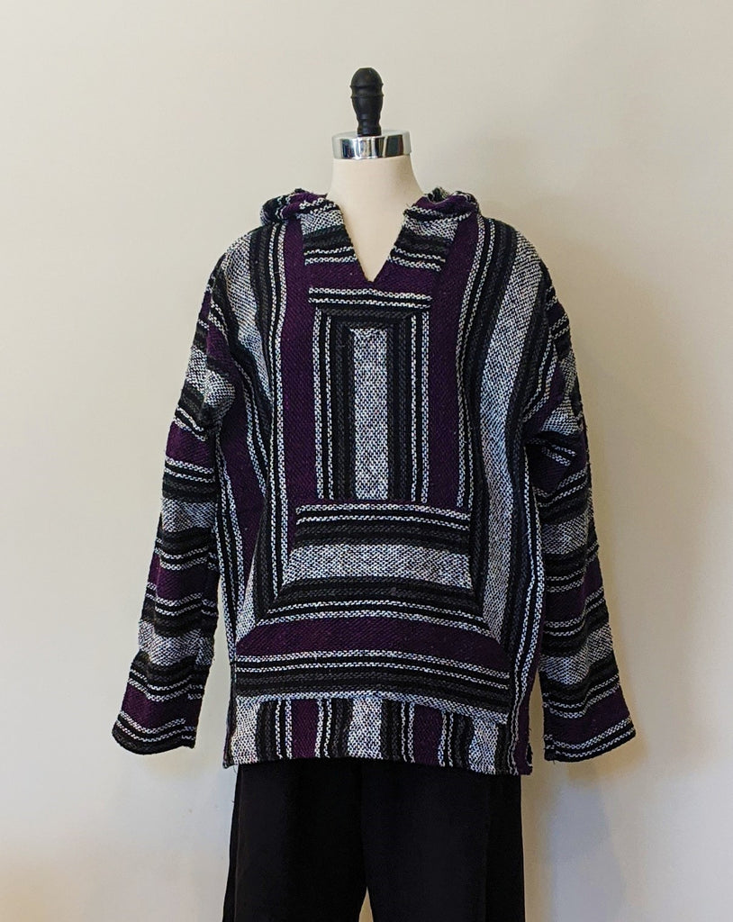 Baja Purple/White Striped Pullover - Size L