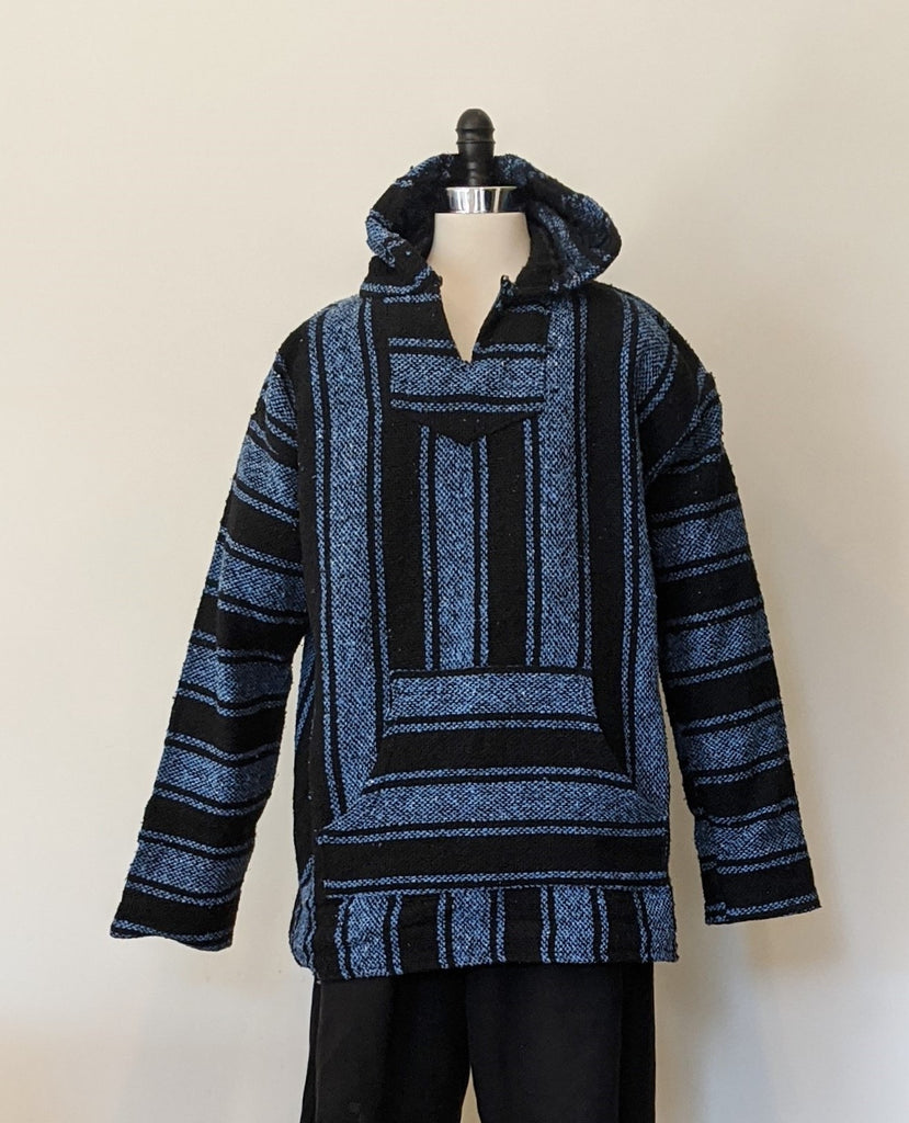 Baja Navy/Black Striped Pullover - Size XL