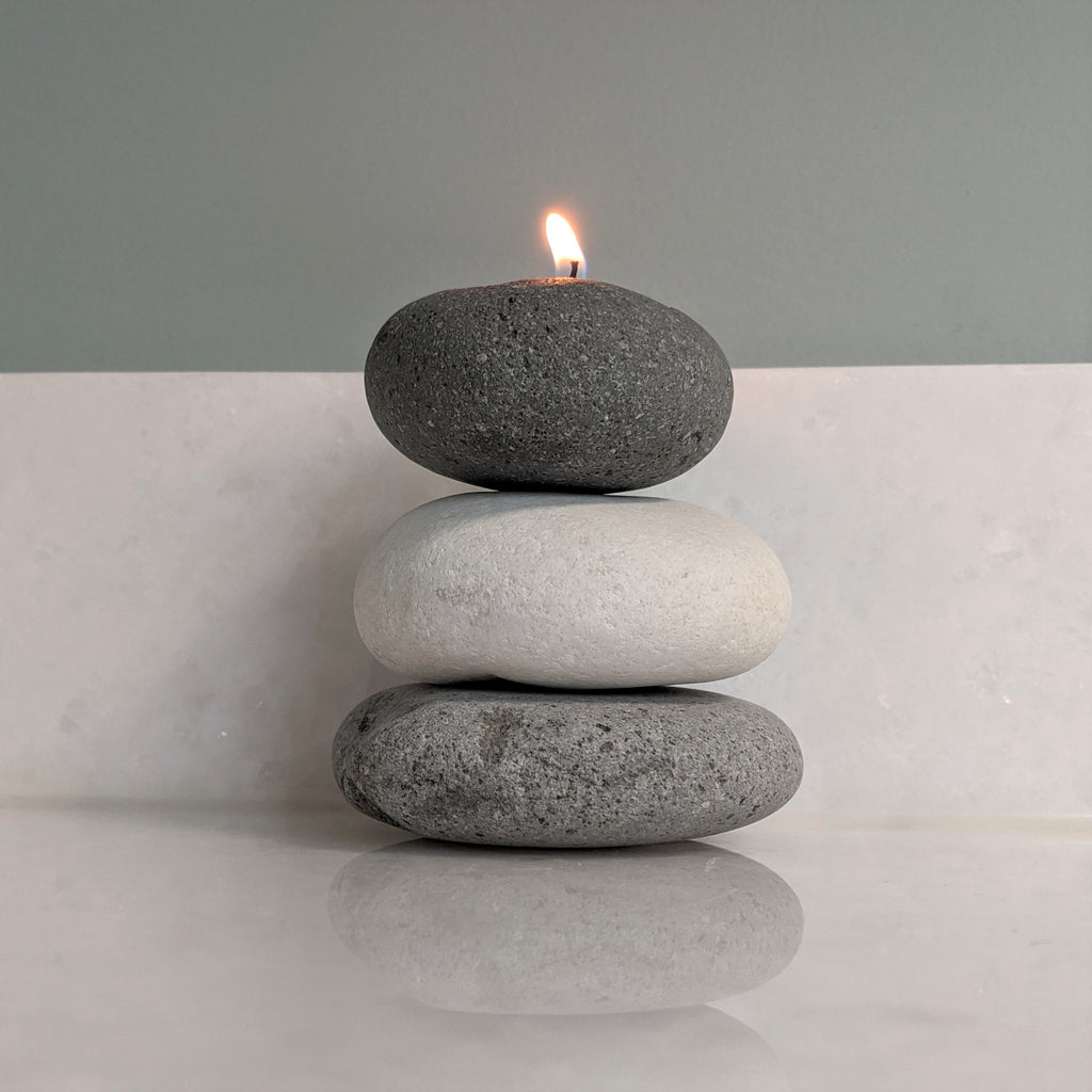 Zen Cairn Candle Holder