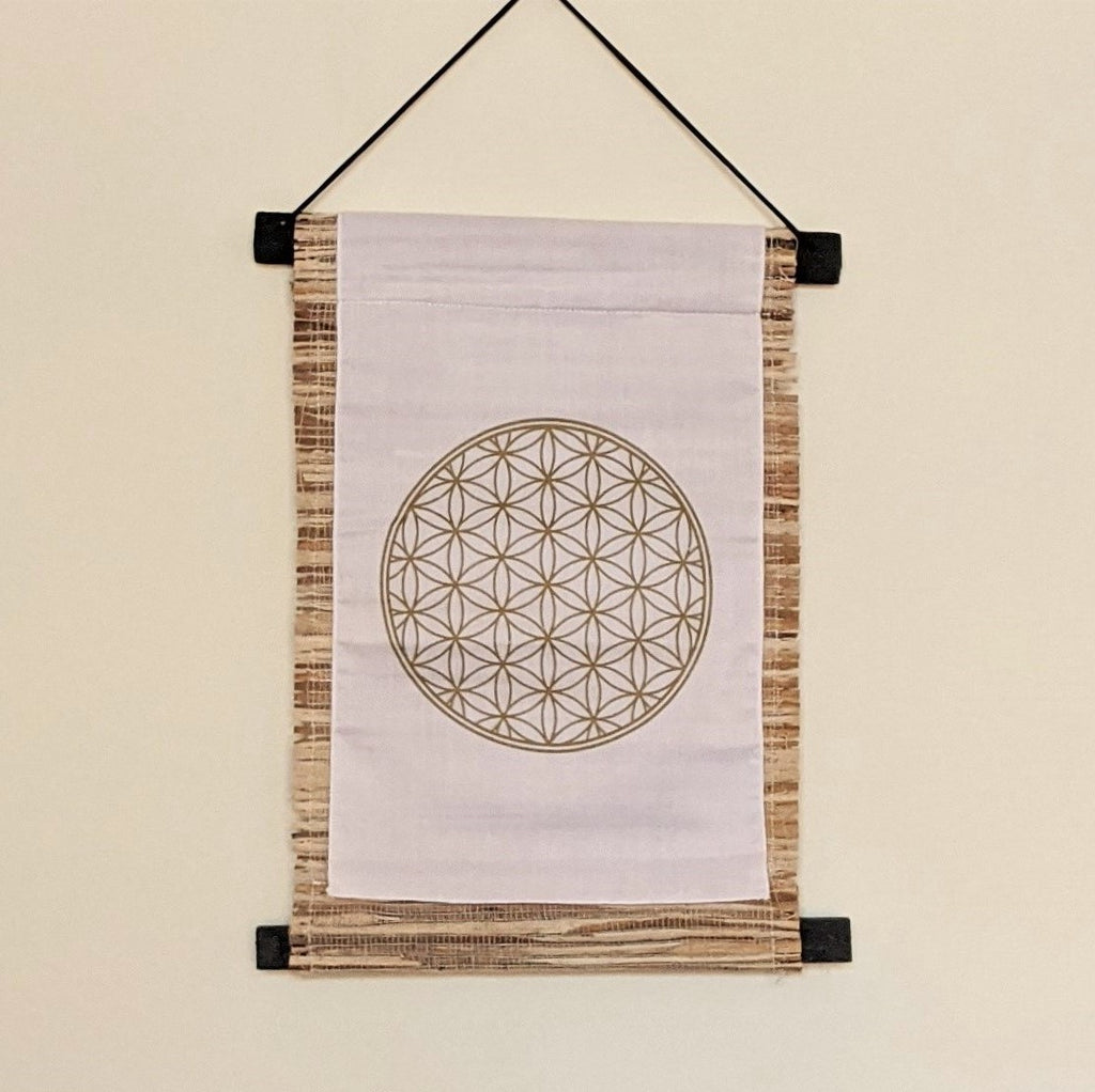 Flower of Life Seagrass Banner