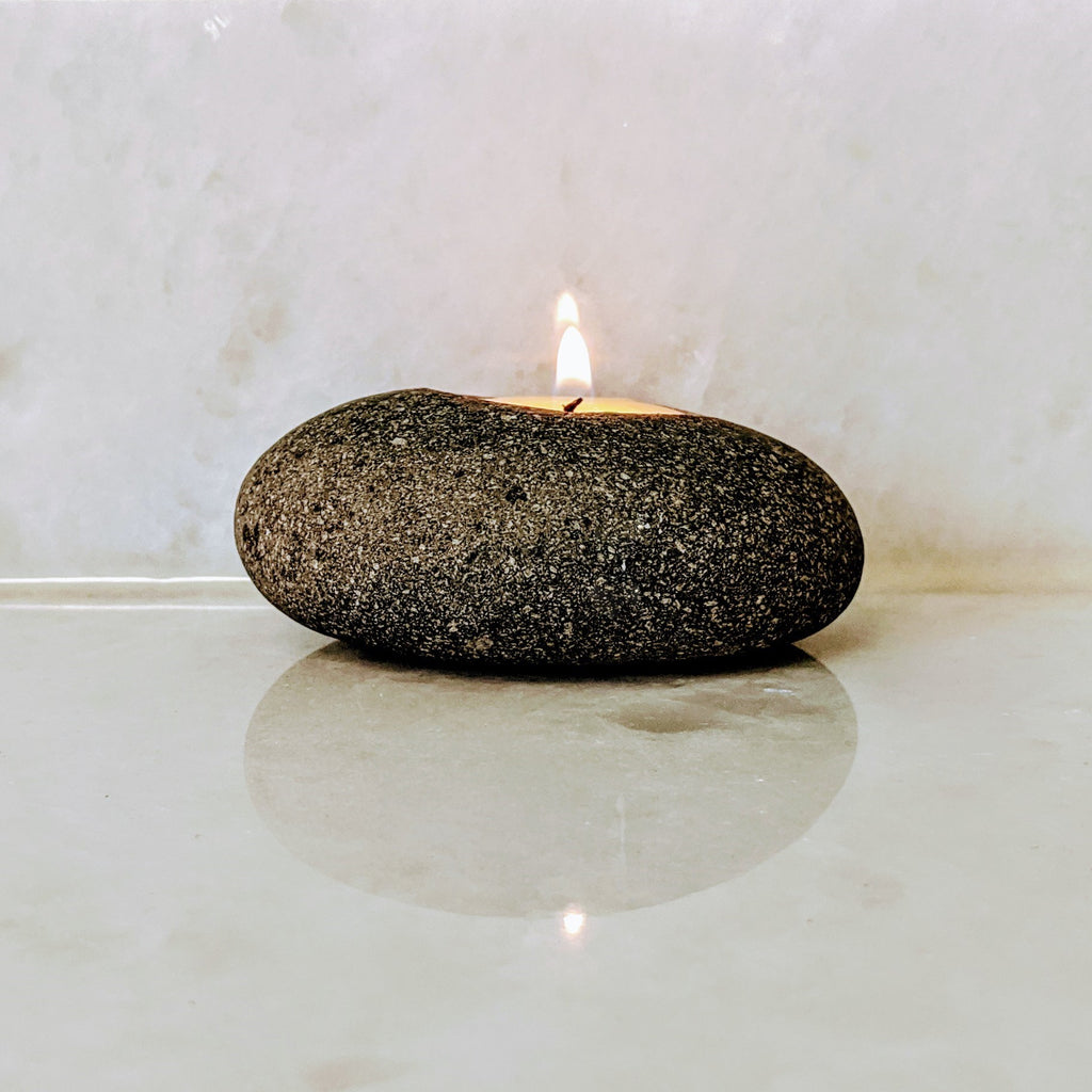 Zen Natural Stone Single Candle Holder