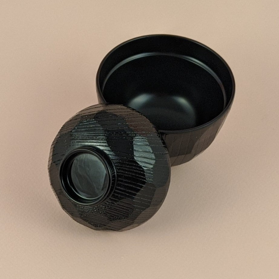 Black Lacquer Soup Bowl With Lid