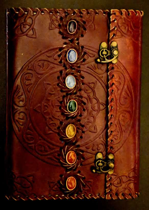 """Chakra Gemstone"" Leather Journal"