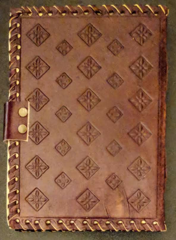 """Lotus Flower"" Leather Journal"
