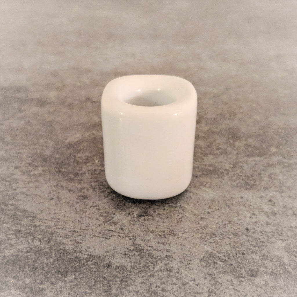 White  Porcelain Chime Candle Holder