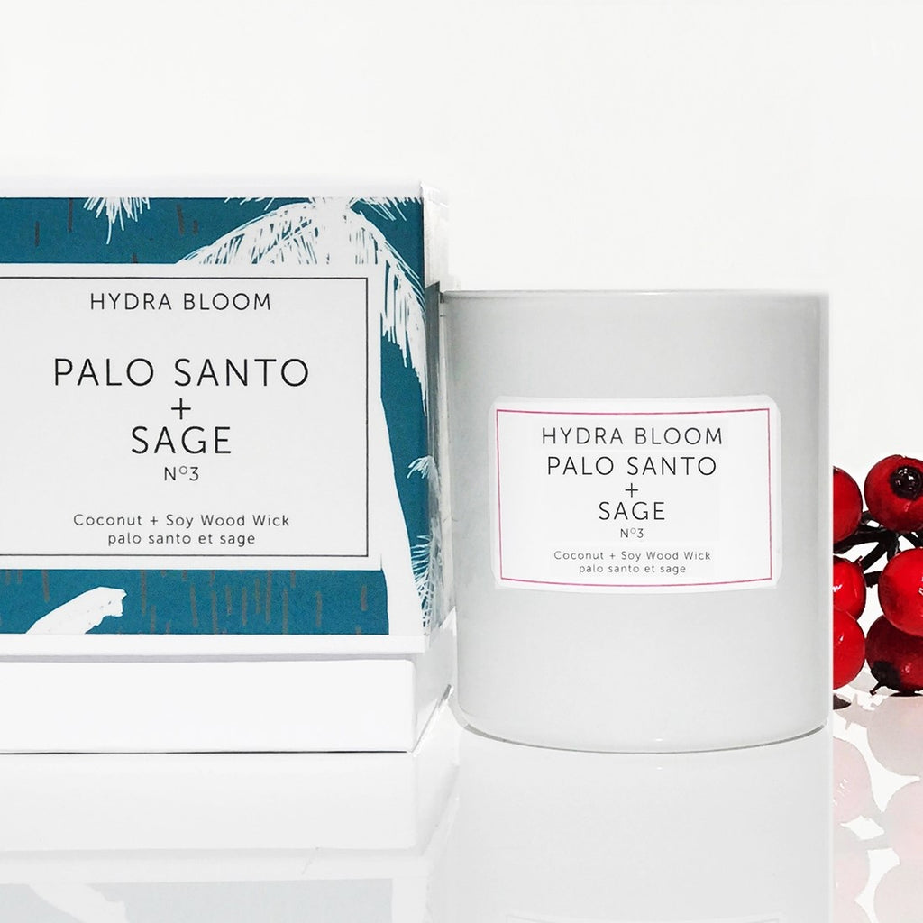 PALO SANTO + SAGE  N°3  -   Wood Wick  Coconut+ Soy Candle