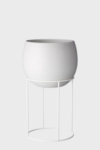 Lotus Pot Stand Short White