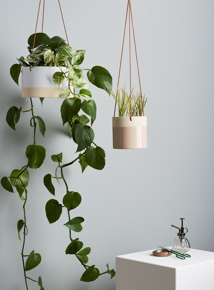 Billie Hanging Pot Large White