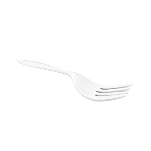 CCF Medium Weight PP Plastic Fork - White 1000 Pieces/Case