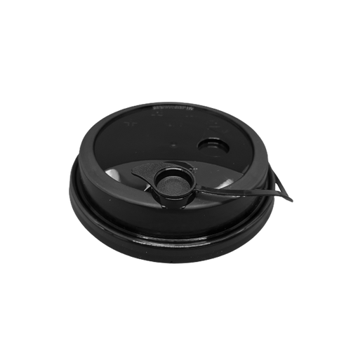 CCF 16-24OZ(D90MM) Premium PP Lid/Attached Stopper For PP Injection Cup - Black 1000 Pieces/Case