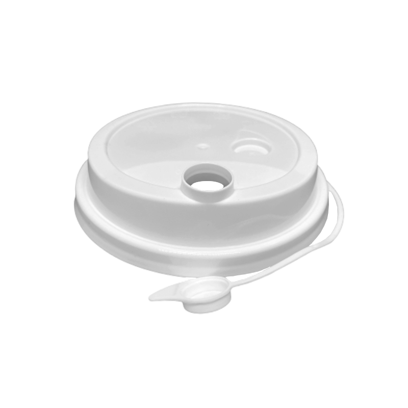 CCF 16-24OZ(D90MM) Premium PP Lid/Attached Stopper For PP Injection Cup - White 1000 Pieces/Case