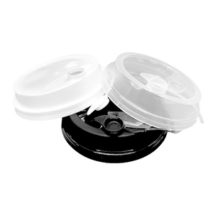 CCF 16-24OZ(D90MM) Premium PP Lid/Attached Stopper For PP Injection Cup - Clear 1000 Pieces/Case