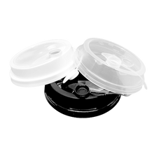 Load image into Gallery viewer, CCF 16-24OZ(D90MM) Premium PP Lid/Attached Stopper For PP Injection Cup - White 1000 Pieces/Case