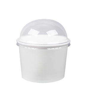 CCF 16OZ(D112MM) Yogurt Paper Cup (Hot/Cold Use) - White 1000 Pieces/Case
