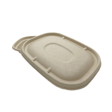 Load image into Gallery viewer, 32OZ 100% COMPOSTABLE Molded Fiber Wheat Straw Rectangle Container - 400 Pieces/Case