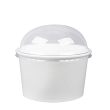 Load image into Gallery viewer, CCF 24OZ(D142MM) Yogurt Paper Cup (Hot/Cold Use) - White 600 Pieces/Case
