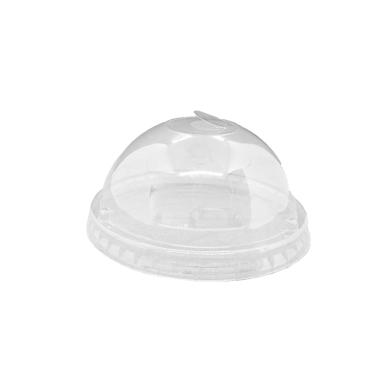 16-24OZ(D90MM) Premium PET Plastic Dome Lid For PP Injection Cup - Clear 1000 Pieces/Case