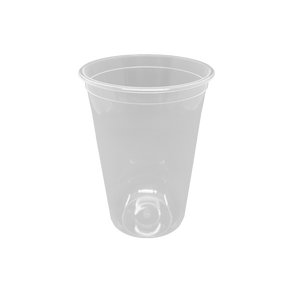 "CCF24OZ(D90MM) Premium PP Injection Plastic ""U"" Style Cup - Clear 500 Pieces/Case"