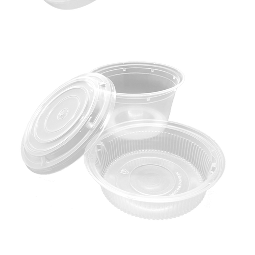 CCF 32OZ(D175MM) Premium PP Injection Plastic Soup Bowl with Insert & Lid - 50 Sets/Cases (Microwavable)