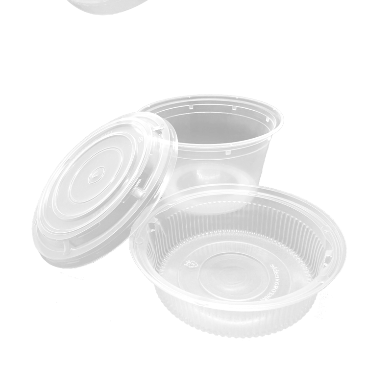 CCF 32OZ(D139MM) Premium PP Injection Plastic Soup Bowl with Insert & Lid - 50 Sets/Cases (Microwavable)